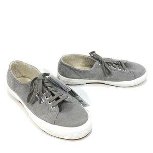 Superga Suefurw Grey Suede Fleece Lined Sneakers